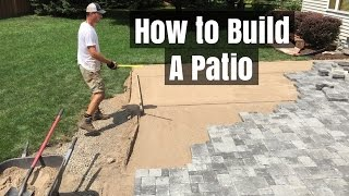 do it yourself paver patio