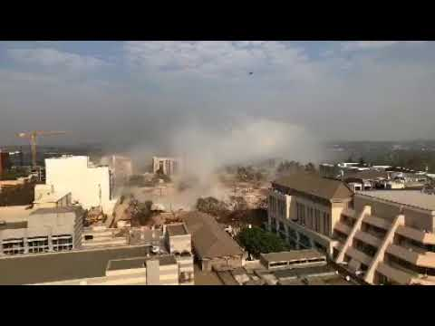 Times Media building implosion in Johannesburg