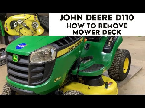 belt diagram d110 how to remove a john deere d110 mower deck youtube  remove a john deere d110 mower deck