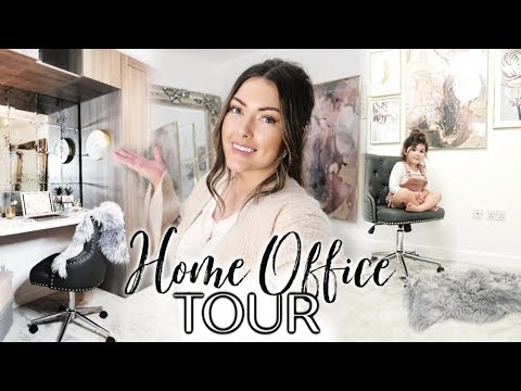 AD | DECORATE & CLEAN MY HOME OFFICE WITH ME | HOME OFFICE TOUR