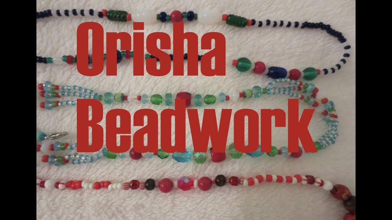 Lukumi Beadwork: Orisha ides Shango and Oshun Oya
