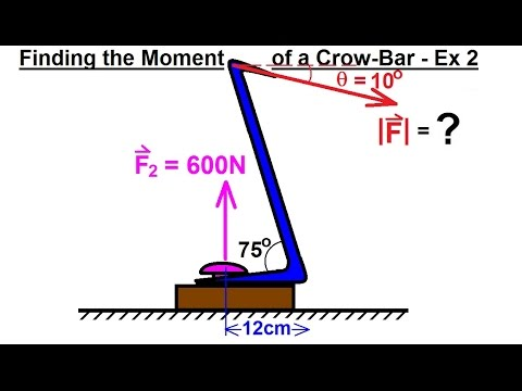 Mechanical Engineering: Rigid Bodies & Sys of Forces (16 of 47) Moments with a Crow Bar