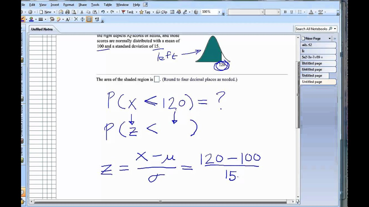 Find area under curve of a normal distribution youtube ccuart Images