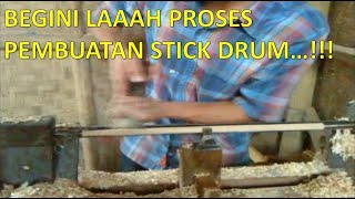HOW TO MAKE DRUMS STICK - CARA MEMBUAT STICK DRUM - INDONESIAN WOODWORKING