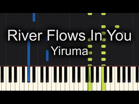 😇TOO EASY!!! 😇River Flows In You Yiruma Piano! - Sheet Music Available!!