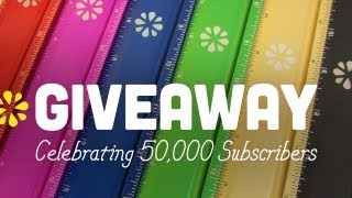 GIVEAWAY! Celebrating 50,000 Subscribers :) (CLOSED)