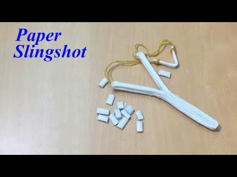How to make a easy paper slingshot