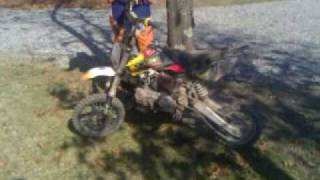 Blowing up pitbike