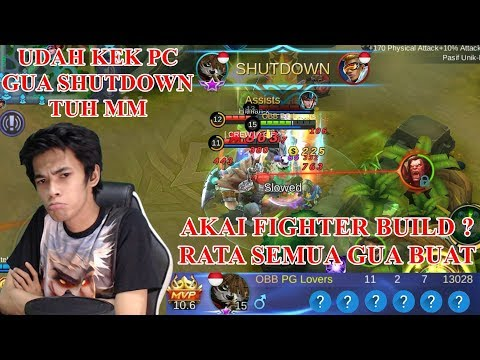 AKAI BUILD FIGHTER ? - RATA SEMUA BUNG -  AKAI BUILD REVIEW - MOBILE LEGENDS