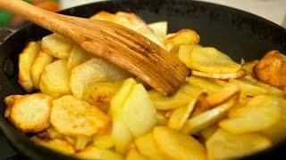 Как жарить картошку на сале