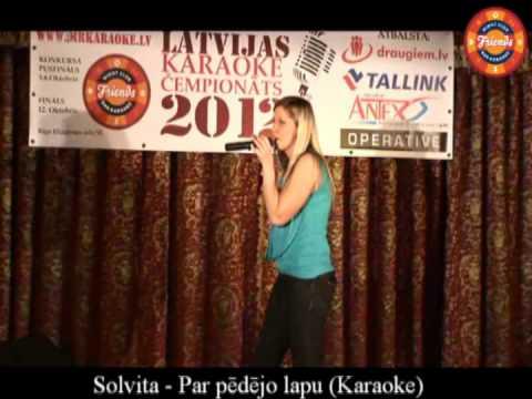 Karaoke Riga 2012 Semi Final Solvita
