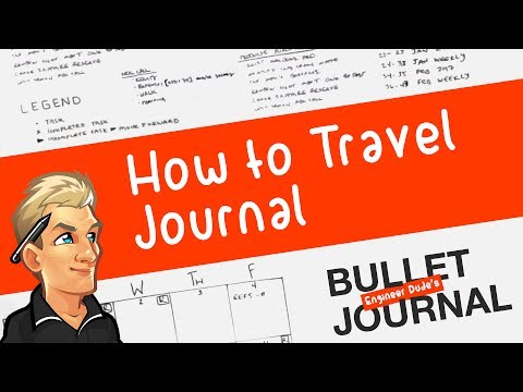 Engineer Bullet Journal 06: How to Travel Journal