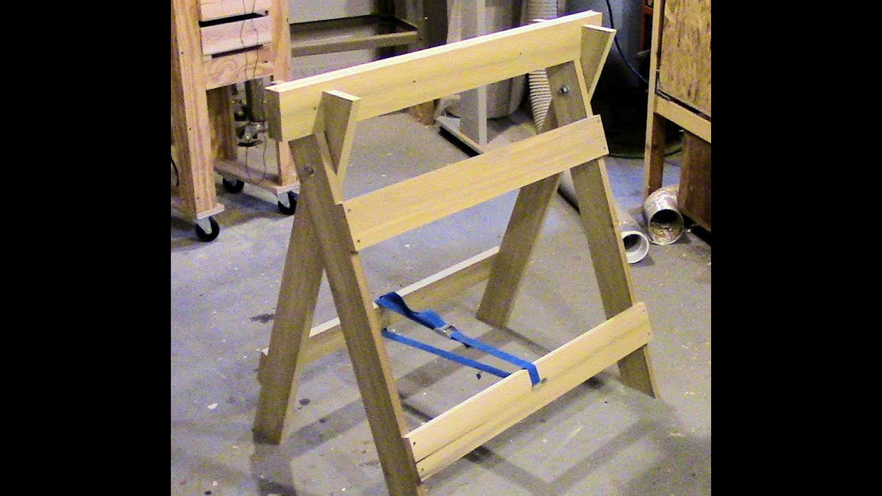 workbench ideas please garage - Build a double duty sawhorse workbench