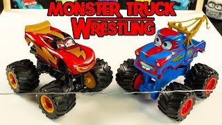 Download Monster Truck SMASH Wrestling Mater always has a hidden trick up his fender Mp3 and Videos