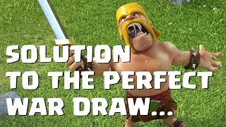 Clash of Clans - PERFECT WAR DRAW SOLUTION | Mister Clash