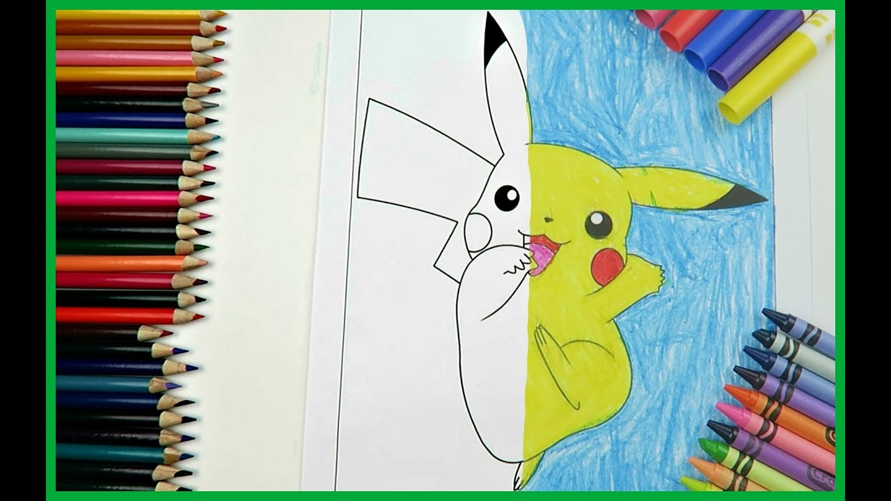 Pokémon Pikachu Coloring Page Colored By A 9 Year Old ...