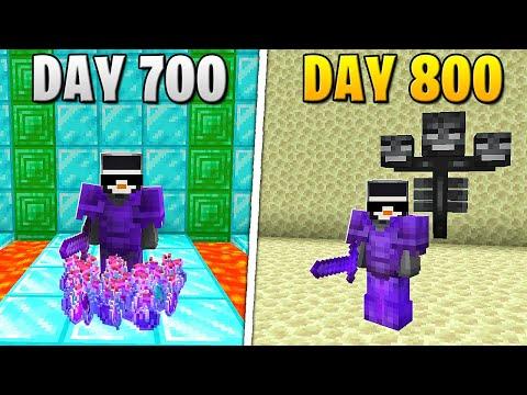 I Survived 800 Days in HARDCORE Minecraft...