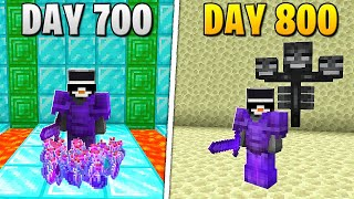 I Survived 800 Days in HARDCORE Minecraft...