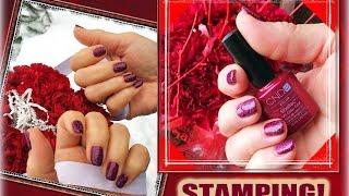 Стемпинг на Гель Лак с пластинами Konad и Cici&SISI (Stamping nail art + Shellac CND).(, 2016-03-05T13:56:47.000Z)