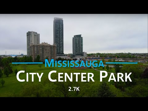 City Center Park - Mississauga, Canada 🇨🇦   2.7K drone aerial video