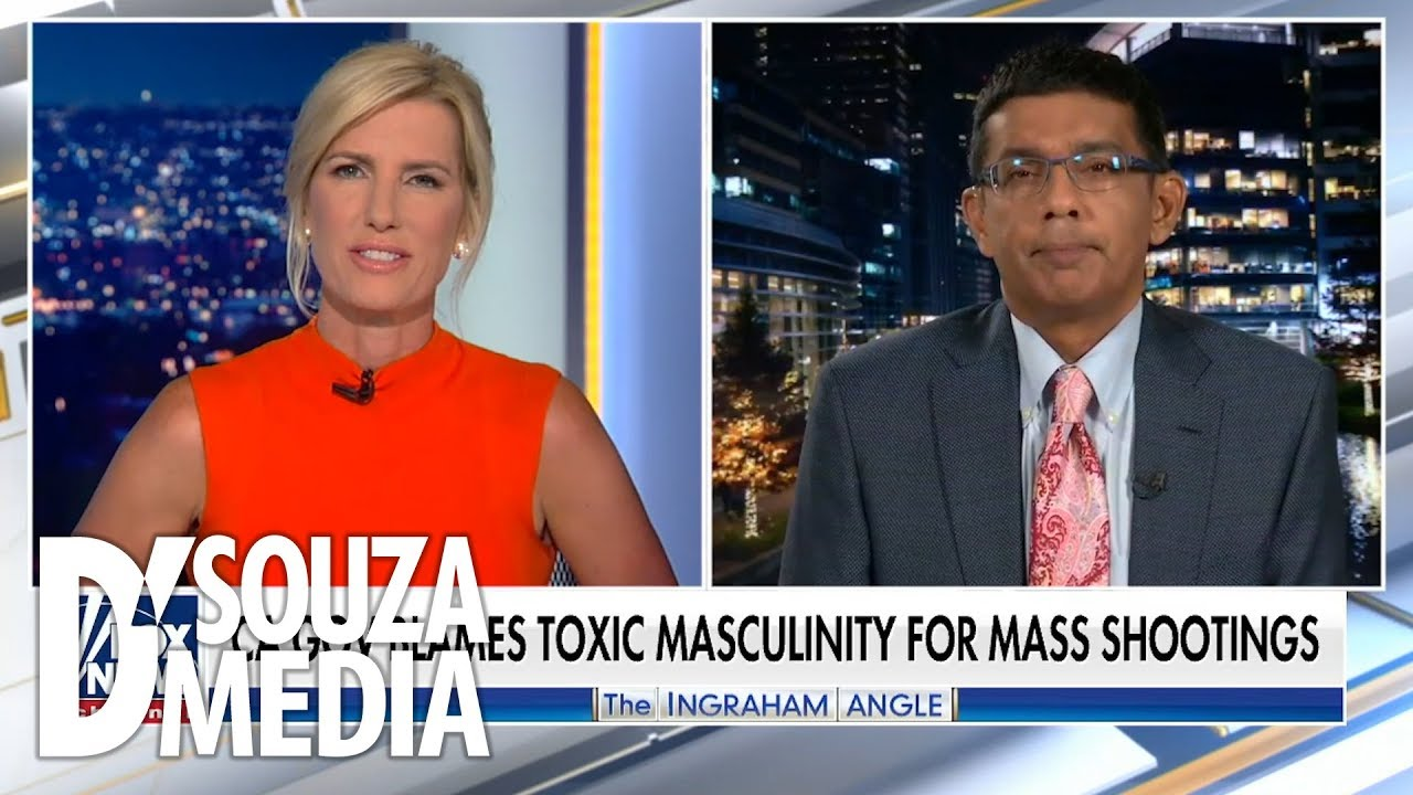 "FOX News D'SOUZA RESPONDS: Does ""toxic masculinity"" cause mass shootings?"