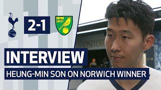 INTERVIEW | HEUNG-MIN SON ON NORWICH WINNER | Spurs 2-1 Norwich City