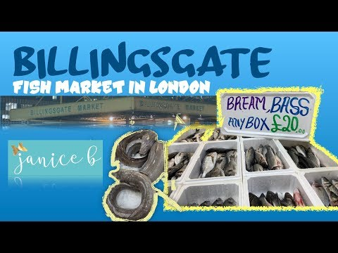 BILLINGSGATE//LONDON FISH MARKET// MAY KAKAIBA...