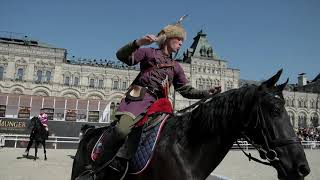 """Спасская башня"" - конная стрельба из лука. Spasskaya Tower horses."