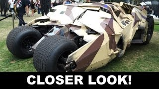 The Dark Knight Rises 2012 - History of the Batmobile / Tumbler at Comic Con : Beyond The Trailer