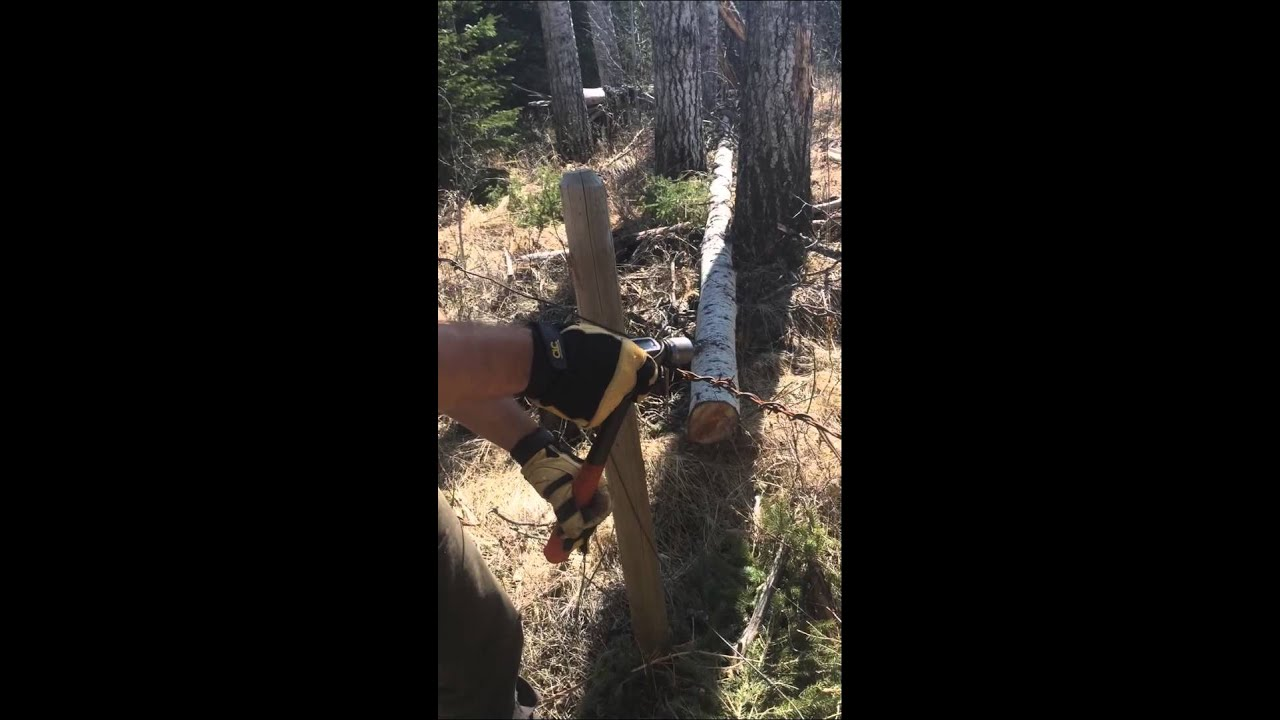 How to use a claw hammer tighten barb wire fence youtube