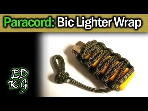 How To Do A Paracord Lighter Wrap Youtube