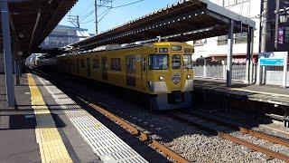 西武2000系 2007F 西武柳沢駅到着~発車 '20.01.19