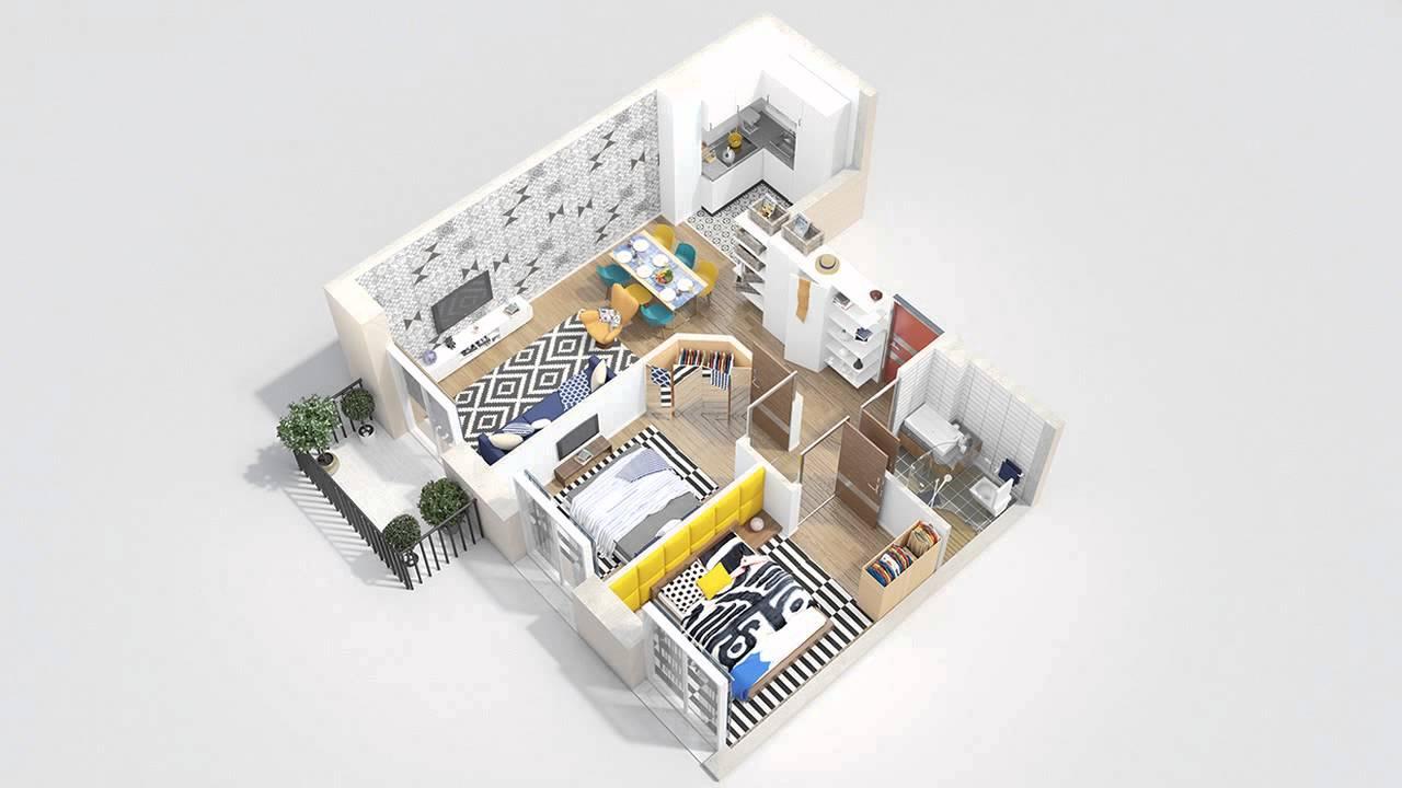 40 more 2 bedroom home floor plans youtube