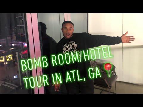 OMNI HOTEL/ROOM TOUR | ATLANTA, GEORGIA