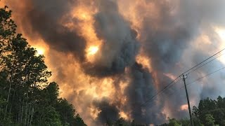 Southeast Georgia town being evacuated because of wildfire