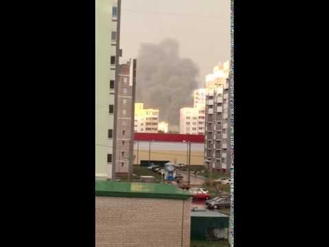 Пожар в мкр Зиновы в Кирове