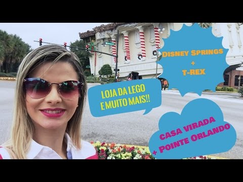 Vlog 3 - Casa Virada, Pointe Orlando, Restaurante T-REX , Disney Springs + Loja Lego