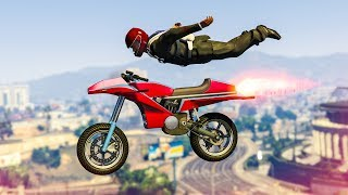 EPIC ROCKET BIKE SKYDIVE STUNT! - (GTA 5 Stunts & Fails)