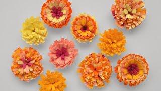 Cómo hacer flores de papel. Quilling. Embellecedores scrapbook.