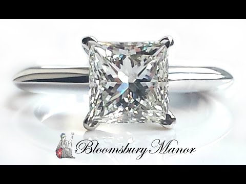 Tiffany & Co. 1.52ct Princess Cut Diamond Engagement Ring