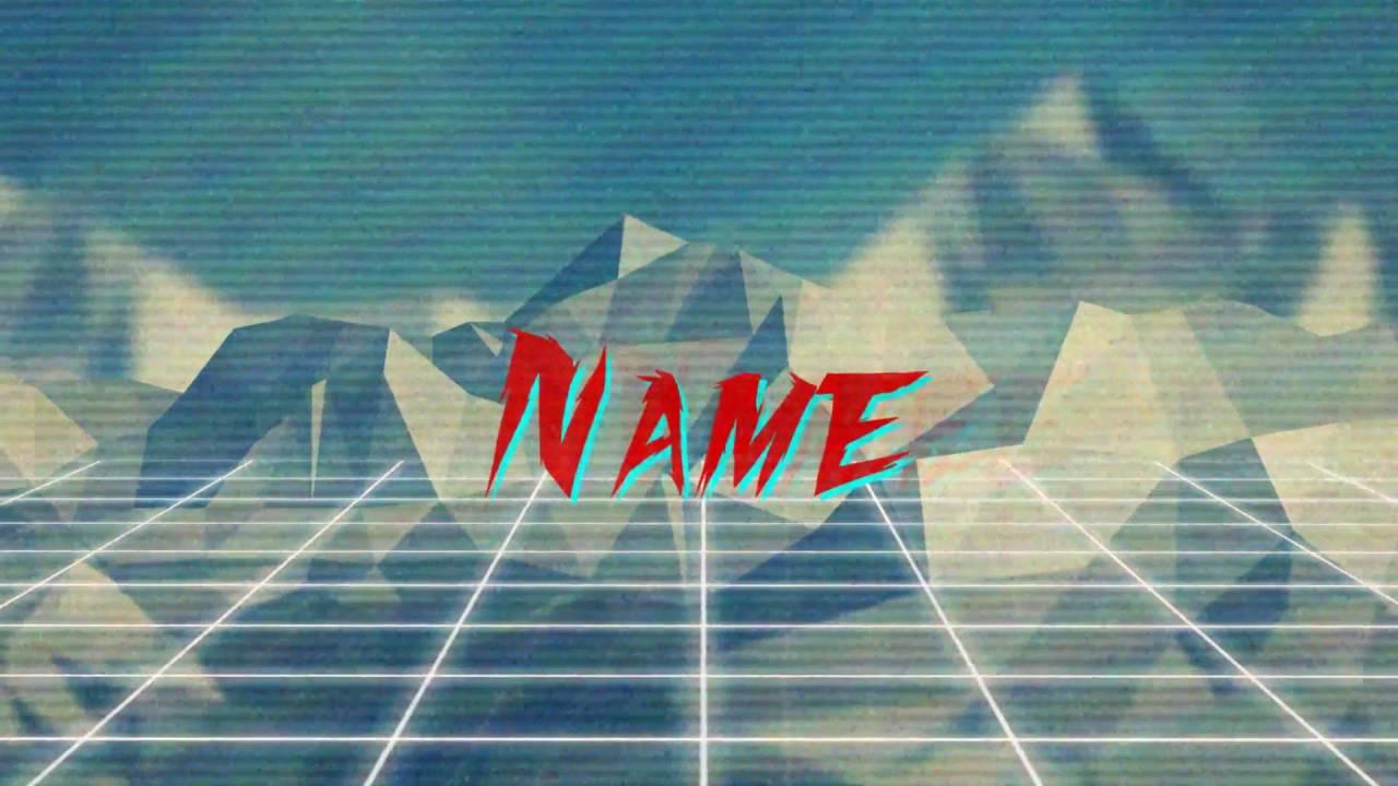updated vaporwave intro template by stachey motion designer