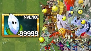 Plants Vs Zombies 2 Super Hierba Lupa Nivel 100 Vs Todos Los Zombots