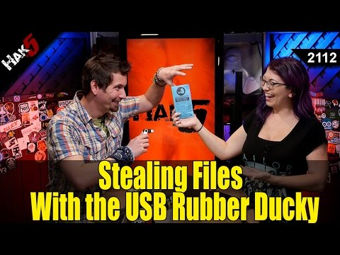 Stealing Files with the USB Rubber Ducky - Hak5 2112 - YouTube