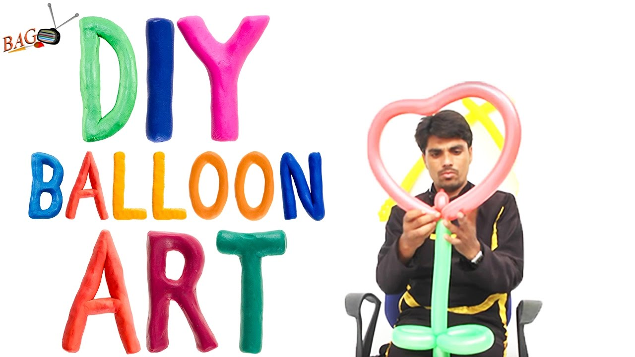 DIY HEART Balloon Arch - 💕 Heart Shape Balloon💕 - YouTube
