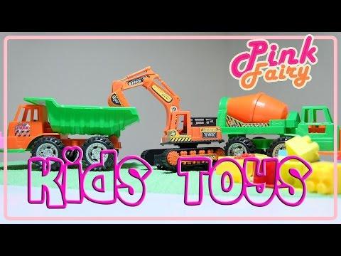 รถแมคโคร รถตักดิน ของเล่น Kid's Toys EP. 2 - Excavator Truck
