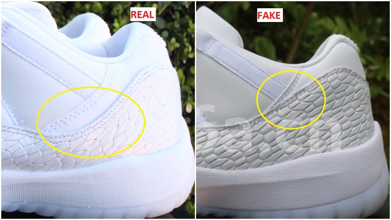 cc038e6836c Fake Air Jordan 11 Low GS Heiress Frost White Spotted-Quick Ways To  Identify Them