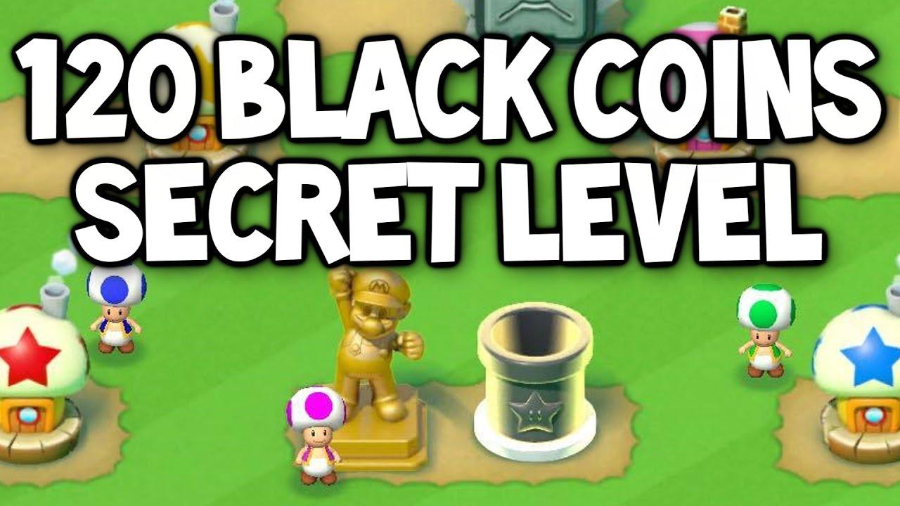 super mario run all black coins