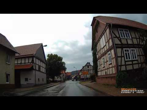 D: Braunau. Staatsbad Bad Wildungen. Landkreis Waldeck-Frankenberg. Ortsdurchfahrt. August 2016