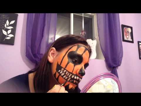 Citrouille maquillage d 39 halloween youtube - Maquillage halloween citrouille ...