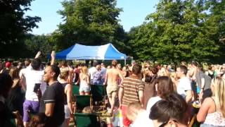 Murray WINS Wimbledon Tennis finals - Clapham Common, 7th July 2013